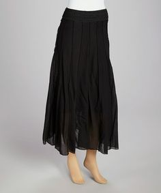 Look what I found on #zulily! Black Flare Maxi Skirt by Lapis #zulilyfinds