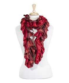 Look at this Red & Rust Ruffle Scarf on #zulily today!