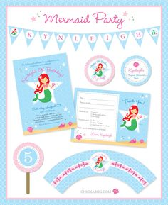 Mermaid birthday party {paper goods and printables}