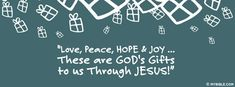 """""""Love, Peace, HOPE & Joy... These are GOD's... - Facebook Cover Photo"""