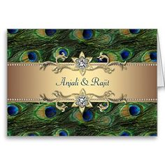 Emerald Green Gold Royal Indian Peacock Wedding Greeting Card Zazzle http://www.amazon.com/dp/B0057YRJ8K/ref=cm_sw_r_pi_dp_nkqavb0JMQTP1