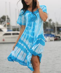 Another great find on #zulily! Ananda's Collection Blue Tie-Dye Shift Dress by Ananda's Collection #zulilyfinds