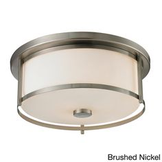 Z-Lite Savannah 3-light Matte Opal Glass Flush Mount - Overstock™ Shopping - Big Discounts on Z Lite Flush Mounts