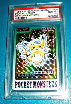 1996 PIKACHU JAPANESE BANDAI PRISM CARRDASS VENDING PSA 10 MINT!! http://ebay.to/1qKOEj4