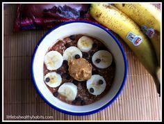 Little b's healthy habits: Banana Chocolate Peanut Butter Overnight Oats