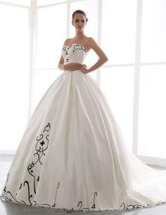 Amazon.com: Honeystore Women's Ball Gown Sweetheart Chapel Train Embridery Wedding Dress: Clothing