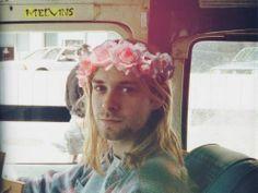 kurt cobain my favorite #flowercrown