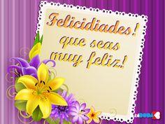 Felicidades, que seas muy feliz Frame, Decor, Happy, Happiness, Viajes, Boyfriends, Wedding, Picture Frame, Decoration