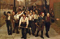 John George Brown (American artist, 1831-1913)  The Gang
