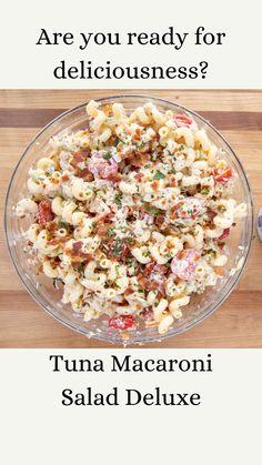 Tuna Noodle Salads, Tuna Macaroni Salad, Fruit Salads, Healthy Tuna Salad, Tuna Recipes, Easy Salad Recipes, Healthy Recipes, Healthy Food, Best Pasta Salad