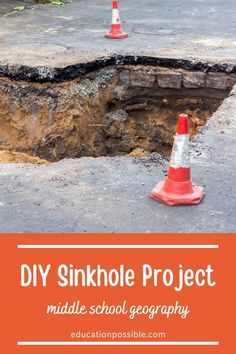To learn about sinkholes as part of your middle school geography, add this sugar karst cave project to your lesson plans. Kids can build a cave and see how the area below the surface dissolves, leaving behind a sinkhole. It's a fun hands-on activities for tweens and a great way to make topography engaging. You can also build this cave as part of your earth science class.