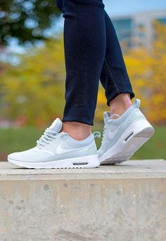 Women's sneakers: Nike Air Max 'Thea' in grey. running Shoes, only USD! Nike Shoes Cheap, Nike Free Shoes, Nike Shoes Outlet, Running Shoes Nike, Cheap Nike, Shoe Outlet, Adidas Cap, Nike Air Max, Athleisure