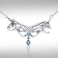Celtic Knotwork Silver Necklace TN054