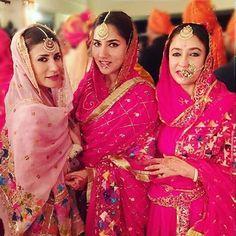 Beautiful Patiala royals raj kumari Ria and her sister shagun and mother Indian Suits, Indian Attire, Indian Dresses, Indian Wear, Indian Clothes, Indian Style, Punjabi Bride, Punjabi Dress, Punjabi Wedding