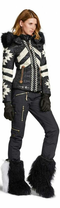 Bogner Woman's ski Fashion Ski Fashion, Winter Fashion, Womens Fashion, Nylons, Down Ski Jacket, Winter Stil, Waterproof Rain Jacket, Snow Pants, Winter Wear