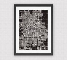 TwiddleandBard etsy store--I love this Minneapolis map!