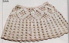 Ecru Miniskirt free crochet graph pattern