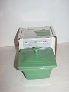 Fiesta® Dinnerware Belk Covered Box with Lid in Meadow. Created exclusively for Belk Department Stores by the Homer Laughlin China Company. Made in the USA