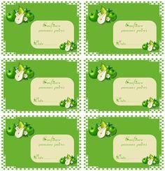 Etiquettes pour Confiture Pommes-poires - Carterie Bilitis