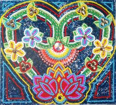 """""""Wild Hearted""""  Framed beaded picture by Create Beautiful Beads on Facebook  COPYRIGHT"""