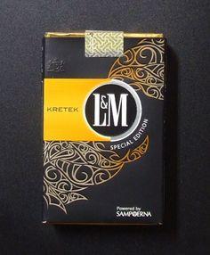 L&M Kretek Special Edition - Brazil Light Tattoo, Cigarette Brands, Cigar Smoking, Advertising, Packing, Smoke, Design, Vintage Ads, Wallets
