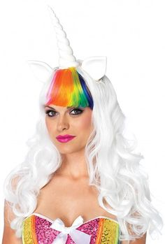 Unicorn Wig With Tail