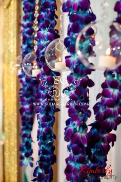 Indian wedding! #blue #orchids