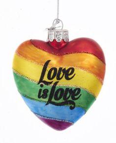 Kurt Adler Noble Gems™ Pride Love Rainbow Glass Ornament