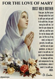 Prayer to Our Lady. Catholic Prayers, Prayers To Mary, Novena Prayers, Special Prayers, Prayers For Healing, Jesus Mother, Blessed Mother Mary, Blessed Virgin Mary, Prayer Scriptures