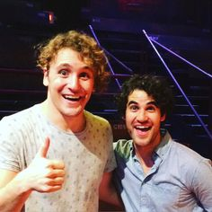 garrettpmarshall: Darren Criss came to show his support for #CarrieTheMusical #ExperienceCarrie #glee #harrypotter #hedwigandtheangryinch #darrencriss