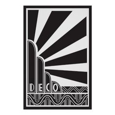 This stunning art deco poster will make a gorgeous addition to the decor in any room - get it framed!