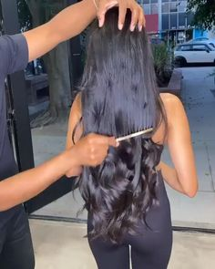 Romance hair body wave, full lace wig front, front lace wig, soft and silky. Beautiful Long Hair, Gorgeous Hair, Curly Hair Styles, Natural Hair Styles, Natural Hair Wigs, Long Natural Hair, Body Wave Wig, Colored Curly Hair, Long Black Hair
