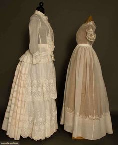TWO SUMMER DRESSES, 1820s & 1870s