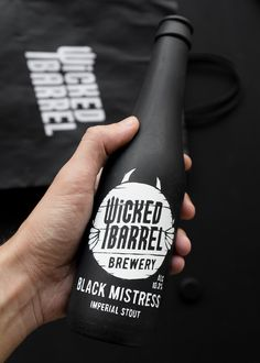 Matte is the new black. Stefan Andries designed the packaging for the range  of craft beers produced by Wicked Barrel, a microbrewery based in Romania.