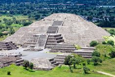 The Pyramid of the Sun at Teotihuacan.  Built near the modern day Mexico City, it was once the largest human built structure in the world.