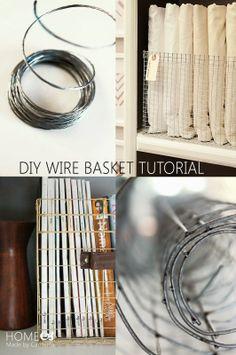 diy wire baskets diy pinterest maschendraht draht und minimalismus. Black Bedroom Furniture Sets. Home Design Ideas
