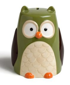 Take a look at this Owl Bank by tag on #zulily today!