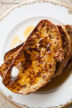 The perfect breakfast! The best French Toast on SimplyRecipes.com Fluffy and tender on the inside, gloriously browned on the outside.