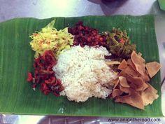 Banana leaf is one popular hindu dish in Malaysia.