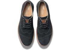 Black Suede Men's Brogues | Classic style from top to bottom.