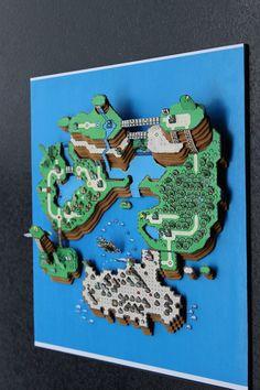 Super Mario World....3D Paper Diorama - Imgur