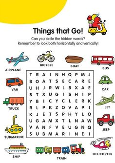 A variety of children word search printable are available with many themes that you can choose you're your kids learning resource! Learning English For Kids, English Worksheets For Kids, English Lessons For Kids, Kids English, English Activities, Kindergarten Worksheets, Learn English, Kids Learning, Teaching English