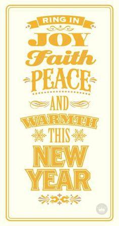 joy faith peace and warmth new year card hallmark