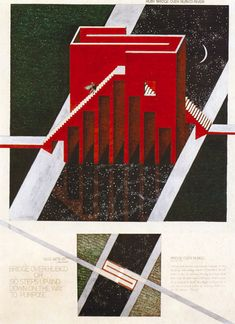 drawingarchitecture:    Sild üle Rubico jõe  Mikhail Belov.  1987.    Color Illustrations | 1110