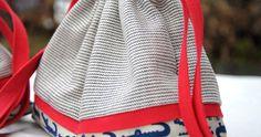 Simple and stylish drawstring bag DIY Tutorial
