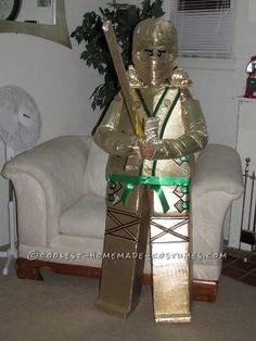 Golden Lego Ninjago Homemade Costume for a Boy... Coolest Homemade Costumes