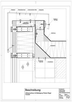 A-02-0006 Attikaanschluss mit Befestigung an Pfosten-Riegel Fassade