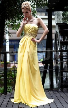 Brilliant A-Line Strapless Floor-Length Empire Beadings Evening Prom Dress  1916840 - Evening Dresses 2014 - Dresswe. 07db40db92e4