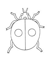 Use this ladybug pattern as a coloring page or a template for an spring bulletin board.