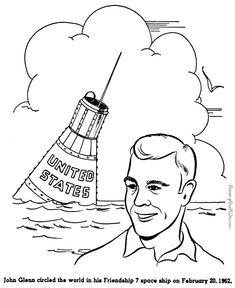 President FRANKLIN ROOSEVELT coloring page Yankee Doodle